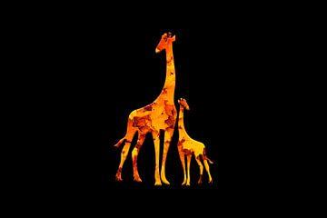 Giraffe2 van Catherine Fortin