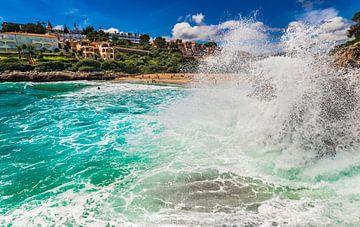 Prachtig eilandlandschap, baai strand van Cala Mandia, Mallorca Spanje van Alex Winter