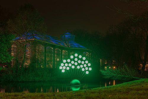 Kunstwerk Green Pigs, Amsterdam Light Festival 2017