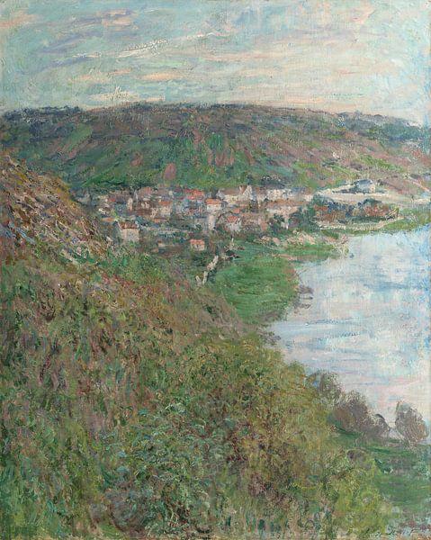 Blick auf Vétheuil, Claude Monet von Meesterlijcke Meesters