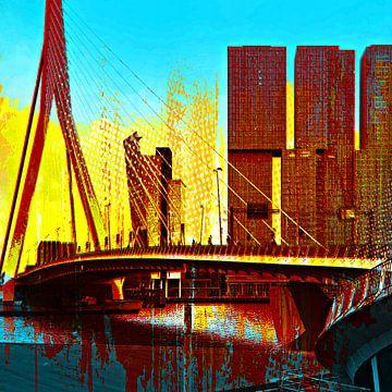 Erasmusbrug Rotterdam van PictureWork - Digital artist