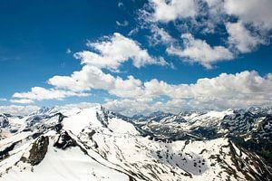 Grossglocknerblick, Mountainpanorama seen from Kitzsteinhorn, Austria