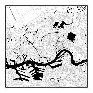 Rotterdam Plattegrond - Zwart/Wit