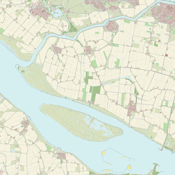 Kaart vanKorendijk van Rebel Ontwerp