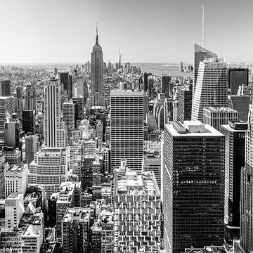 Vue de la ligne d'horizon de Manhattan depuis le Rockefeller Center sur Sascha Kilmer