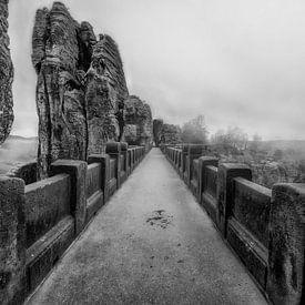 Brücke mit Nebel von Carina Buchspies