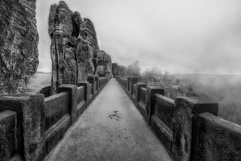 Bridge met mist van Carina Buchspies