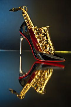 les trois S = sexe, saxophone, stoeckelschuhe (talons hauts) sur Norbert Sülzner