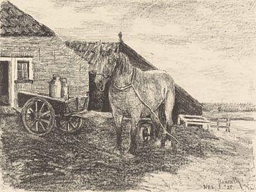 Pferd auf Ameland, Otto Hanrath, 1925 von Atelier Liesjes