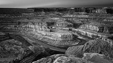 Dead Horse Point in Schwarz und Weiß von Henk Meijer Photography