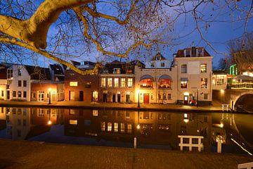 Twijnstraat aan de Werf aan de Oudegracht in Utrecht sur Donker Utrecht