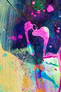 Acryl Pouring detail van angelique van Riet