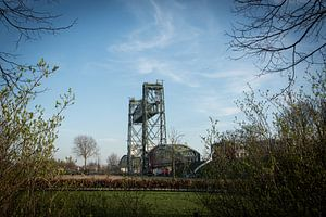 Oude spoorbrug De Hef Rotterdam