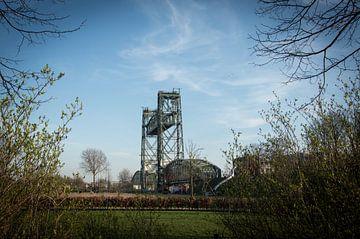 Oude spoorbrug De Hef Rotterdam van Patrick Verhoef