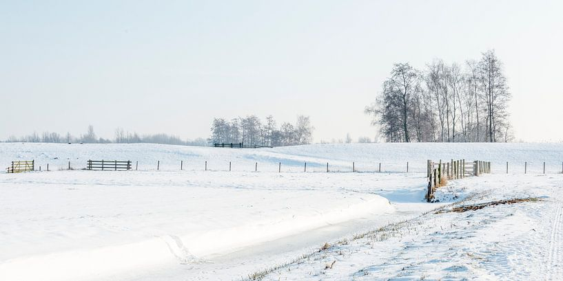 Fluwelen Sneeuwlandschap in Zuid-Holland van Rob IJsselstein