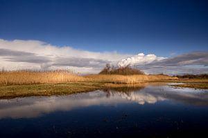 Bewölkung über dem Wassereinzugsgebiet von Ouddorp von Eddy 't Jong