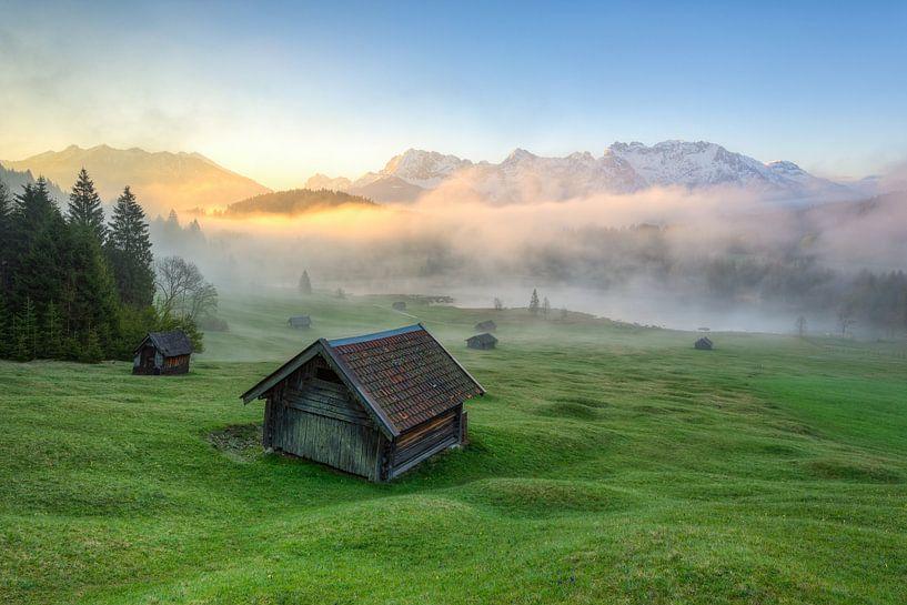 Nebel am Geroldsee von Michael Valjak