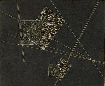 Bauhaus, László Moholy-Nagy, zonder titel (Compositie II) - 1928 van Atelier Liesjes
