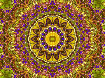 Retrospektive (Mandala in Ocker) von Caroline Lichthart