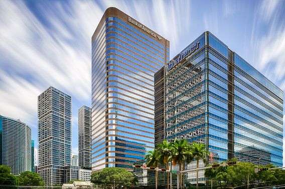 Brickell Avenue Skyline Miami