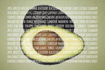 Fruities in kleur Avocado sur Sharon Harthoorn