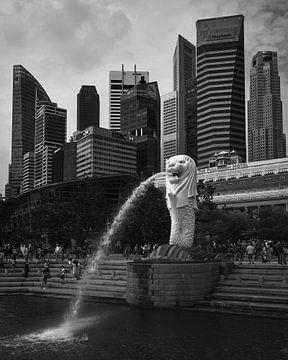 Merlion und Singapur-Hochhäuser von Keith Wilson Photography