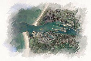 Karte von IJmuiden