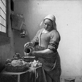 Het Melkmeisje - Johannes Vermeer van Marieke de Koning