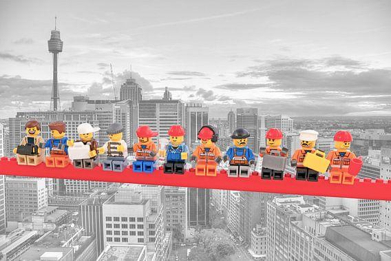 Lunch atop a skyscraper Lego edition - Sydney van Marco van den Arend