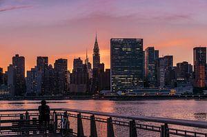 Midtown Manhattan im Abendlicht      New York