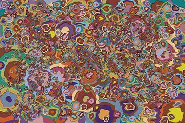 Abstrakte Arbeit mit Flüssigkeitskreisen 'Herbst'. von Ton Kuijpers