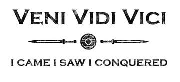 Latijns gezegde - Veni Vidi Vici van Pixelbull Design