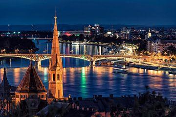 Boedapest bij nacht van Manjik Pictures
