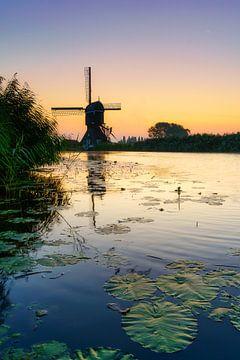 Hollands beeld molen aan water