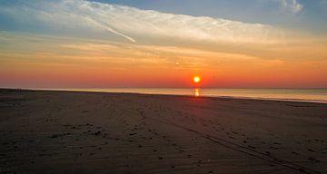 Rustige zonsondergang van