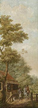 Drei Tapetenbilder einer niederländischen Landschaft, Jurriaan Andriessen