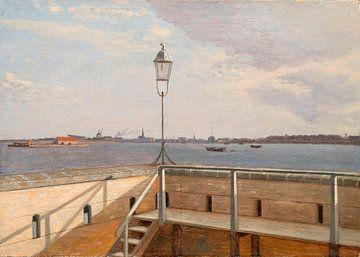 Vue de la batterie Trekroner avec Copenhague au loin, Christoffer Wilhelm Eckersberg