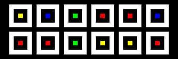 Nested | Center | 06x02 | N=02 | Random #05 | RGBY van Gerhard Haberern