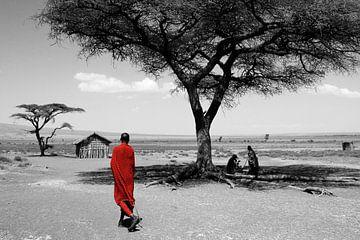 Masai, Ngorongoro, Tanzania van Henny Hagenaars