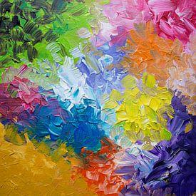 Mixed Emotions van Watercolor Wall