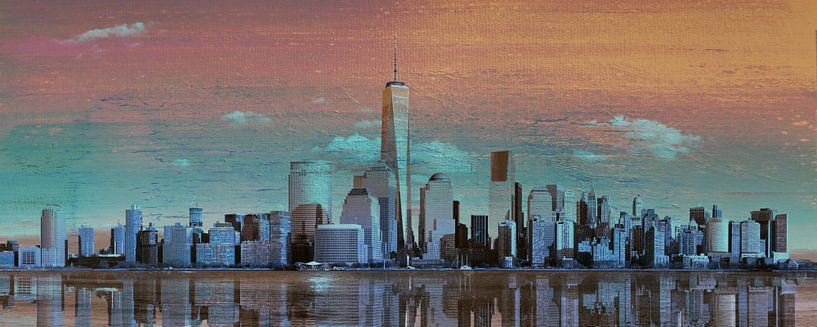 11. city-art, NY, Manhattan 4 van Alies werk