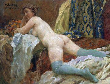 Weiblicher Akt mit Strümpfen, Paul Paede von Atelier Liesjes