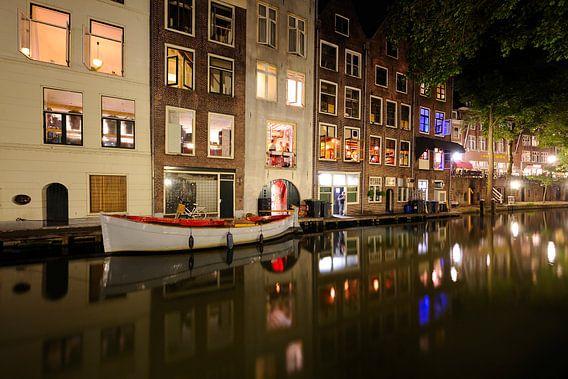 Oudegracht in Utrecht ter hoogte van de Donkere Gaard van  Donker Utrecht