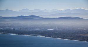 Vroege ochtend boven Kaapstad, Zuid-Afrika