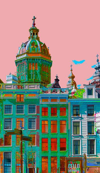 Colourful Amsterdam van Foto Amsterdam/ Peter Bartelings