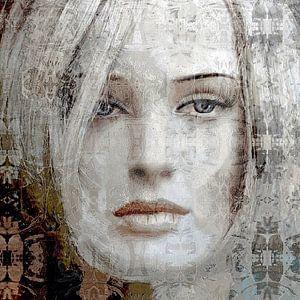 Abstract portret no. 3 van Diana Mets