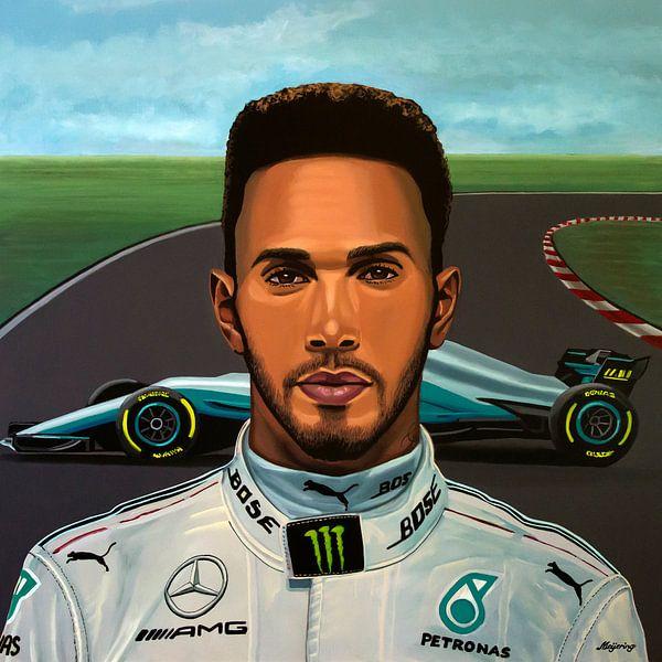 Lewis Hamilton Schilderij
