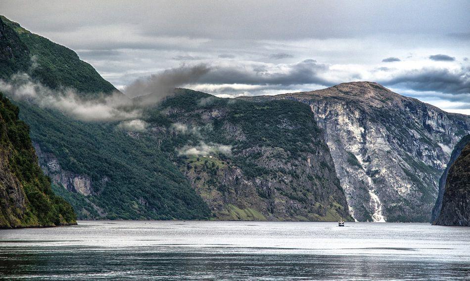 Boottocht door het Aurlandsfjord van Karin Mooren