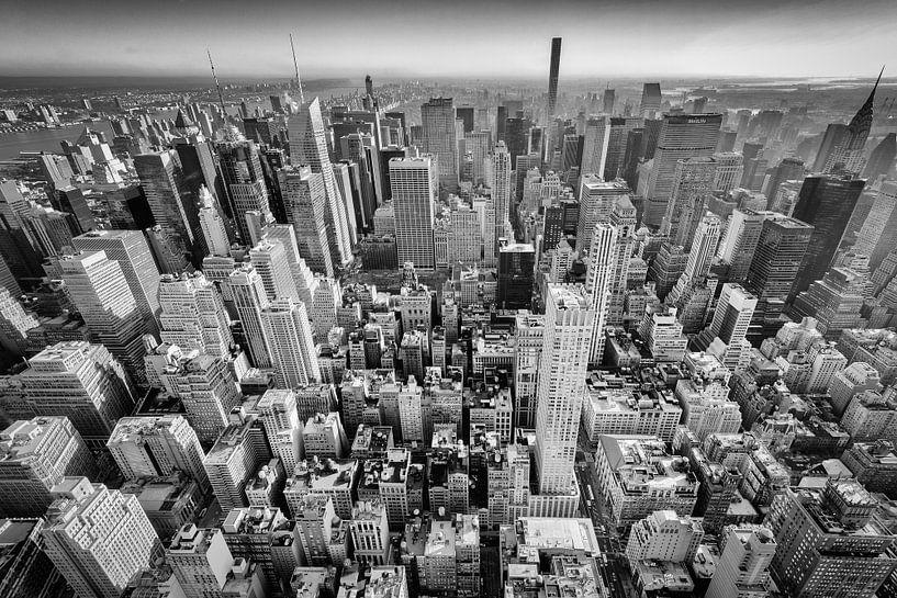 Wolkenkrabbers van New York van Mark De Rooij