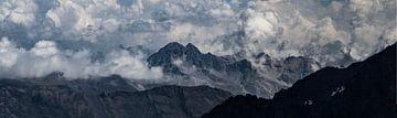 Muurfoto bergen van Marc tanger